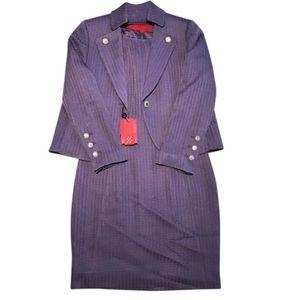 Carolina Herrera Purple 2-Piece Dress Suit